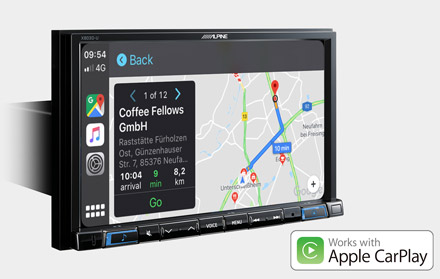 Online Navigation with Apple CarPlay - X803DC-U