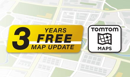 TomTom Maps with 3 Years Free-of-charge updates - X702D-A5