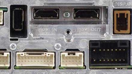 Connect HDMI Sources - rear view INE-W997E46