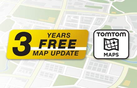TomTom Maps with 3 Years Free-of-charge updates - X902DC-F