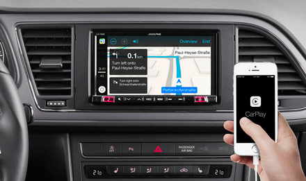 Online Navigation with Apple CarPlay - iLX-702LEON