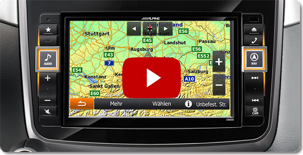 Alpine Style Navigation for Mercedes | Videos